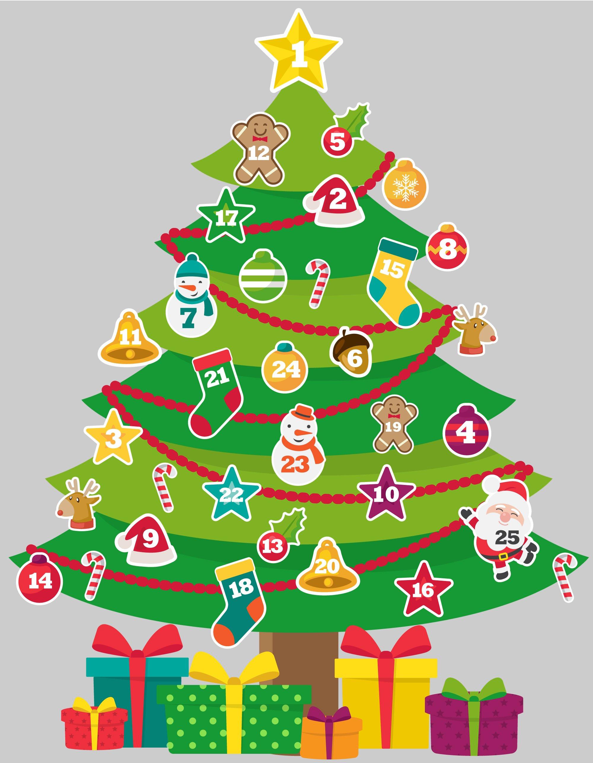 Mini Arvore De Natal Com Contagem Regressiva Grudado Em Voce